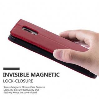 Cadorabo Hülle für Samsung Galaxy NOTE 4 in APFEL ROT - Handyhülle mit Magnetverschluss, Standfunktion und Kartenfach - Case Cover Schutzhülle Etui Tasche Book Klapp Style - Vorschau 5