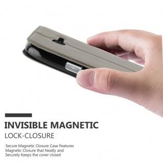 Cadorabo Hülle für Samsung Galaxy TREND LITE in STEIN BRAUN ? Handyhülle mit Magnetverschluss, Standfunktion und 2 Sichtfenstern ? Case Cover Schutzhülle Etui Tasche Book Klapp Style - Vorschau 5