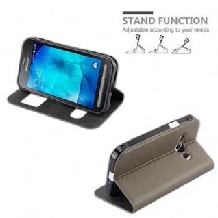 Cadorabo Hülle für Samsung Galaxy XCOVER 3 in STEIN BRAUN ? Handyhülle mit Magnetverschluss, Standfunktion und 2 Sichtfenstern ? Case Cover Schutzhülle Etui Tasche Book Klapp Style - Vorschau 5