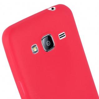Cadorabo Hülle für Samsung Galaxy J3 / J3 DUOS 2016 in CANDY ROT - Handyhülle aus flexiblem TPU Silikon - Silikonhülle Schutzhülle Ultra Slim Soft Back Cover Case Bumper - Vorschau 4