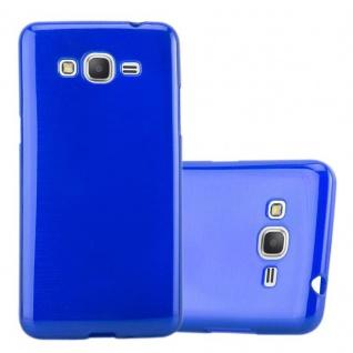 Cadorabo Hülle für Samsung Galaxy GRAND PRIME in BLAU - Handyhülle aus flexiblem TPU Silikon - Silikonhülle Schutzhülle Ultra Slim Soft Back Cover Case Bumper