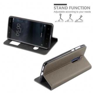 Cadorabo Hülle für Nokia 5 2017 in STEIN BRAUN - Handyhülle mit Magnetverschluss, Standfunktion und 2 Sichtfenstern - Case Cover Schutzhülle Etui Tasche Book Klapp Style - Vorschau 5