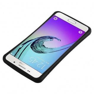 Cadorabo Hülle für Samsung Galaxy A3 2016 - Hülle in MINERAL SCHWARZ ? Small Waist Handyhülle mit rutschfestem Gummi-Rücken - Hard Case TPU Silikon Schutzhülle - Vorschau 4
