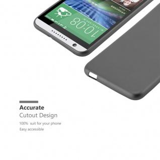 Cadorabo Hülle für HTC DESIRE 820 in METALLIC GRAU - Handyhülle aus flexiblem TPU Silikon - Silikonhülle Schutzhülle Ultra Slim Soft Back Cover Case Bumper - Vorschau 2