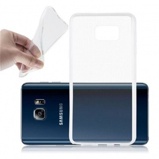 Cadorabo Hülle für Samsung Galaxy NOTE 5 - Hülle in VOLL TRANSPARENT ? Handyhülle aus TPU Silikon im Ultra Slim 'AIR' Design - Ultra Slim Soft Backcover Case Bumper