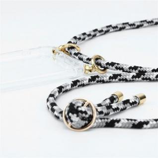 Cadorabo Handy Kette für Oppo A12 in SCHWARZ CAMOUFLAGE Silikon Necklace Umhänge Hülle mit Gold Ringen, Kordel Band Schnur und abnehmbarem Etui Schutzhülle - Vorschau 3