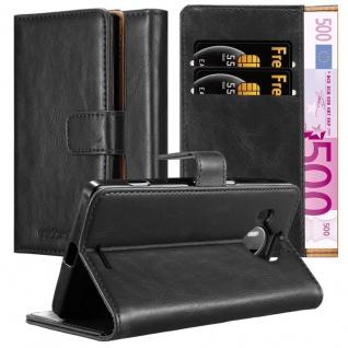 Cadorabo Hülle für Nokia Lumia 950 XL in GRAPHIT SCHWARZ ? Handyhülle mit Magnetverschluss, Standfunktion und Kartenfach ? Case Cover Schutzhülle Etui Tasche Book Klapp Style