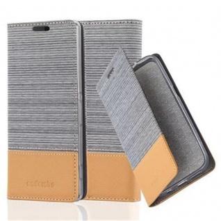 Cadorabo Hülle für Sony Xperia Z2 in HELL GRAU BRAUN - Handyhülle mit Magnetverschluss, Standfunktion und Kartenfach - Case Cover Schutzhülle Etui Tasche Book Klapp Style