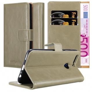 Cadorabo Hülle für Honor 8 PRO in CAPPUCCINO BRAUN - Handyhülle mit Magnetverschluss, Standfunktion und Kartenfach - Case Cover Schutzhülle Etui Tasche Book Klapp Style