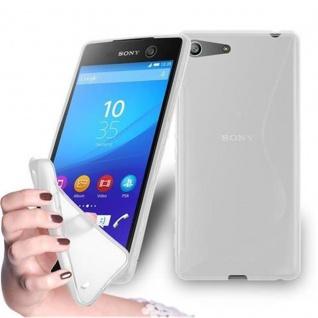 Cadorabo Hülle für Sony Xperia M5 in HALB TRANSPARENT - Handyhülle aus flexiblem TPU Silikon - Silikonhülle Schutzhülle Ultra Slim Soft Back Cover Case Bumper