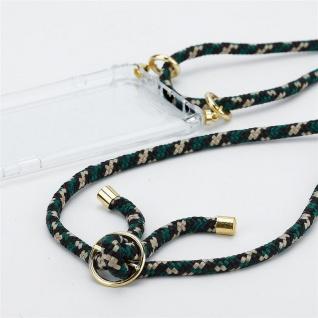 Cadorabo Handy Kette für LG K10 2017 in CAMOUFLAGE Silikon Necklace Umhänge Hülle mit Gold Ringen, Kordel Band Schnur und abnehmbarem Etui Schutzhülle - Vorschau 3
