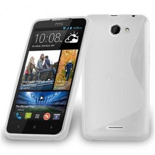 Cadorabo Hülle für HTC Desire 516 in HALB TRANSPARENT ? Handyhülle aus flexiblem TPU Silikon ? Silikonhülle Schutzhülle Ultra Slim Soft Back Cover Case Bumper