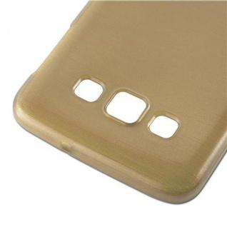 Cadorabo Hülle für Samsung Galaxy A3 2015 in GOLD - Handyhülle aus flexiblem TPU Silikon - Silikonhülle Schutzhülle Ultra Slim Soft Back Cover Case Bumper - Vorschau 5