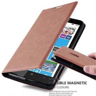 Cadorabo Hülle für Nokia Lumia 1320 in CAPPUCCINO BRAUN - Handyhülle mit Magnetverschluss, Standfunktion und Kartenfach - Case Cover Schutzhülle Etui Tasche Book Klapp Style
