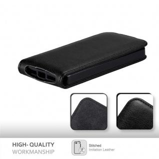 Cadorabo Hülle für Apple iPhone 5 / iPhone 5S / iPhone SE in NACHT SCHWARZ - Handyhülle im Flip Design mit unsichtbarem Magnetverschluss - Case Cover Schutzhülle Etui Tasche Book Klapp Style - Vorschau 5
