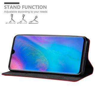 Cadorabo Hülle für Huawei P30 PRO in APFEL ROT Handyhülle mit Magnetverschluss, Standfunktion und Kartenfach Case Cover Schutzhülle Etui Tasche Book Klapp Style - Vorschau 4
