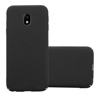 Cadorabo Hülle für Samsung Galaxy J3 2017 in FROSTY SCHWARZ - Hardcase Handyhülle aus Plastik gegen Kratzer und Stöße - Schutzhülle Bumper Ultra Slim Back Case Hard Cover