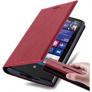 Cadorabo Hülle für Nokia Lumia 920 in APFEL ROT - Handyhülle mit Magnetverschluss, Standfunktion und Kartenfach - Case Cover Schutzhülle Etui Tasche Book Klapp Style