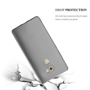 Cadorabo Hülle für Huawei MATE S in METALLIC GRAU - Handyhülle aus flexiblem TPU Silikon - Silikonhülle Schutzhülle Ultra Slim Soft Back Cover Case Bumper - Vorschau 3