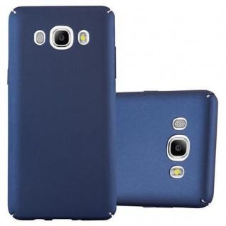 Cadorabo Hülle für Samsung Galaxy J7 2016 in METALL BLAU - Hardcase Handyhülle aus Plastik gegen Kratzer und Stöße - Schutzhülle Bumper Ultra Slim Back Case Hard Cover