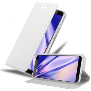 Cadorabo Hülle für HTC Desire 12 in CLASSY SILBER Handyhülle mit Magnetverschluss, Standfunktion und Kartenfach Case Cover Schutzhülle Etui Tasche Book Klapp Style