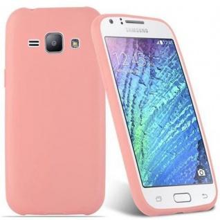 Cadorabo Hülle für Samsung Galaxy J1 2015 in CANDY ROSA - Handyhülle aus flexiblem TPU Silikon - Silikonhülle Schutzhülle Ultra Slim Soft Back Cover Case Bumper - Vorschau 2