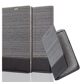 Cadorabo Hülle für Sony Xperia XA1 ULTRA in GRAU SCHWARZ - Handyhülle mit Magnetverschluss, Standfunktion und Kartenfach - Case Cover Schutzhülle Etui Tasche Book Klapp Style