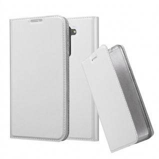 Cadorabo Hülle für LG Stylus 2 in CLASSY SILBER - Handyhülle mit Magnetverschluss, Standfunktion und Kartenfach - Case Cover Schutzhülle Etui Tasche Book Klapp Style