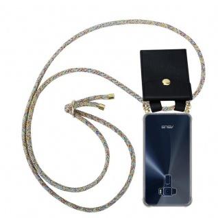 Cadorabo Handy Kette für Asus ZenFone 3 in RAINBOW - Silikon Necklace Umhänge Hülle mit Gold Ringen, Kordel Band Schnur und abnehmbarem Etui ? Schutzhülle