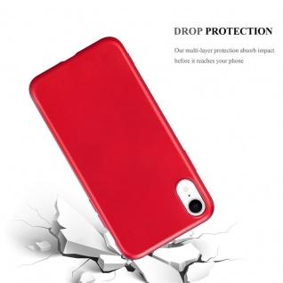 Cadorabo Hülle für Apple iPhone XR in METALLIC ROT - Handyhülle aus flexiblem TPU Silikon - Silikonhülle Schutzhülle Ultra Slim Soft Back Cover Case Bumper - Vorschau 3