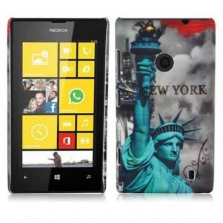 Cadorabo - Hard Cover für Nokia Lumia 520 - Case Cover Schutzhülle Bumper im Design: NEW YORK - FREIHEITSSTATUE