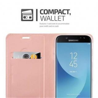 Cadorabo Hülle für Samsung Galaxy J5 2017 in CLASSY ROSÉ GOLD - Handyhülle mit Magnetverschluss, Standfunktion und Kartenfach - Case Cover Schutzhülle Etui Tasche Book Klapp Style - Vorschau 3