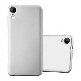 Cadorabo Hülle für HTC 10 LIFESTYLE / DESIRE 825 in METALLIC SILBER - Handyhülle aus flexiblem TPU Silikon - Silikonhülle Schutzhülle Ultra Slim Soft Back Cover Case Bumper