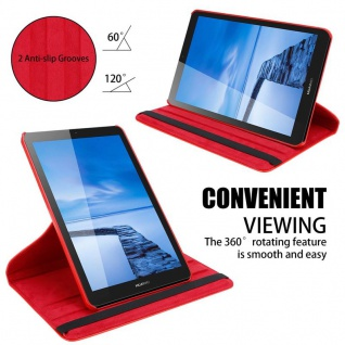 """Cadorabo Tablet Hülle für Huawei MediaPad T3 7 (7, 0"""" Zoll) in MOHN ROT Book Style Schutzhülle OHNE Auto Wake Up mit Standfunktion und Gummiband Verschluss - Vorschau 5"""