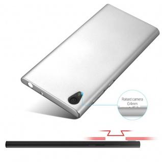 Cadorabo Hülle für Sony Xperia L1 in METALL SILBER - Hardcase Handyhülle aus Plastik gegen Kratzer und Stöße - Schutzhülle Bumper Ultra Slim Back Case Hard Cover - Vorschau 4