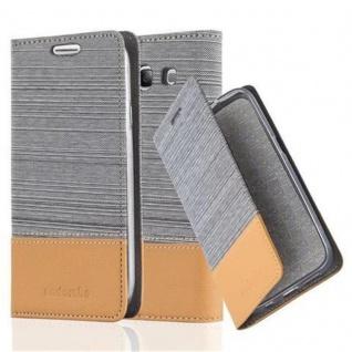 Cadorabo Hülle für Samsung Galaxy S3 / S3 NEO in HELL GRAU BRAUN Handyhülle mit Magnetverschluss, Standfunktion und Kartenfach Case Cover Schutzhülle Etui Tasche Book Klapp Style