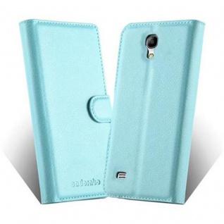 Cadorabo Hülle für Samsung Galaxy S4 MINI in PASTEL BLAU - Handyhülle mit Magnetverschluss, Standfunktion und Kartenfach - Case Cover Schutzhülle Etui Tasche Book Klapp Style - Vorschau 2