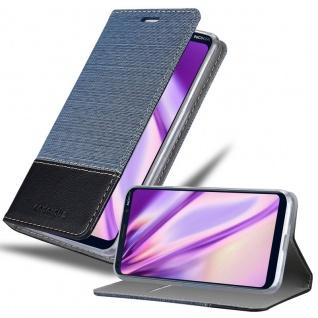 Cadorabo Hülle für Nokia 9 Pure View in DUNKEL BLAU SCHWARZ Handyhülle mit Magnetverschluss, Standfunktion und Kartenfach Case Cover Schutzhülle Etui Tasche Book Klapp Style