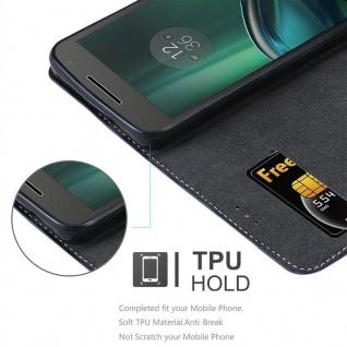 Cadorabo Hülle für Motorola MOTO G4 / G4 PLUS in DUNKEL BLAU BRAUN ? Handyhülle mit Magnetverschluss, Standfunktion und Kartenfach ? Case Cover Schutzhülle Etui Tasche Book Klapp Style