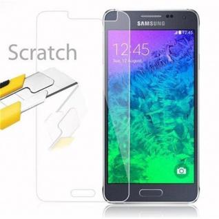 Cadorabo Panzer Folie für Samsung Galaxy ALPHA - Schutzfolie in KRISTALL KLAR - Gehärtetes (Tempered) Display-Schutzglas in 9H Härte mit 3D Touch Kompatibilität - Vorschau 2
