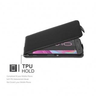 Cadorabo Hülle für Sony Xperia XA in OXID SCHWARZ - Handyhülle im Flip Design aus strukturiertem Kunstleder - Case Cover Schutzhülle Etui Tasche Book Klapp Style - Vorschau 3