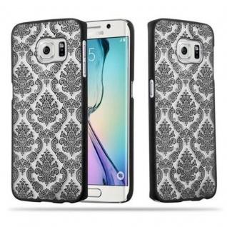 Samsung Galaxy S6 EDGE Hardcase Hülle in SCHWARZ von Cadorabo - Blumen Paisley Henna Design Schutzhülle ? Handyhülle Bumper Back Case Cover