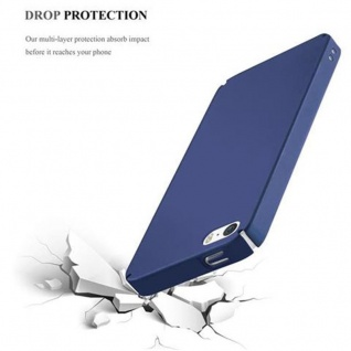 Cadorabo Hülle für Apple iPhone 5 / iPhone 5S / iPhone SE in METALL BLAU ? Hardcase Handyhülle aus Plastik gegen Kratzer und Stöße ? Schutzhülle Bumper Ultra Slim Back Case Hard Cover - Vorschau 5