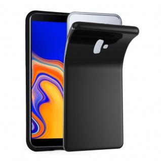 Cadorabo Hülle für Samsung Galaxy J6 PLUS in SCHWARZ - Handyhülle aus flexiblem TPU Silikon - Silikonhülle Schutzhülle Ultra Slim Soft Back Cover Case Bumper