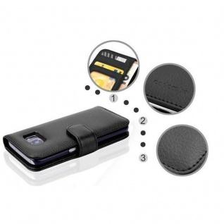 Cadorabo Hülle für Samsung Galaxy S7 in OXID SCHWARZ ? Handyhülle mit Magnetverschluss und 3 Kartenfächern ? Case Cover Schutzhülle Etui Tasche Book Klapp Style - Vorschau 4