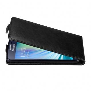 Cadorabo Hülle für Samsung Galaxy A3 2015 in NACHT SCHWARZ Handyhülle im Flip Design mit unsichtbarem Magnetverschluss Case Cover Schutzhülle Etui Tasche Book Klapp Style