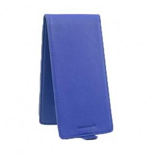 Cadorabo Hülle für Sony Xperia Z5 in KÖNIGS BLAU - Handyhülle im Flip Design aus strukturiertem Kunstleder - Case Cover Schutzhülle Etui Tasche Book Klapp Style - Vorschau 3