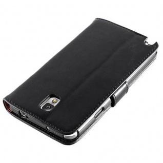 Cadorabo Hülle für Samsung Galaxy NOTE 3 in GRAPHIT SCHWARZ ? Handyhülle mit Magnetverschluss, Standfunktion und Kartenfach ? Case Cover Schutzhülle Etui Tasche Book Klapp Style - Vorschau 5
