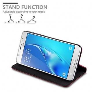 Cadorabo Hülle für Samsung Galaxy J5 2016 in APFEL ROT - Handyhülle mit Magnetverschluss, Standfunktion und Kartenfach - Case Cover Schutzhülle Etui Tasche Book Klapp Style - Vorschau 4