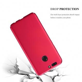 Cadorabo Hülle für Honor 8 PRO in METALL ROT - Hardcase Handyhülle aus Plastik gegen Kratzer und Stöße - Schutzhülle Bumper Ultra Slim Back Case Hard Cover - Vorschau 3